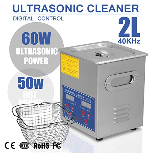 Youngzerd JPS-10A 2L 2 L Ultrasonic Cleaner Ultraschallreiniger Brushed Cleaning Tank 110W Digital Tight Fitting Lid Fantastic