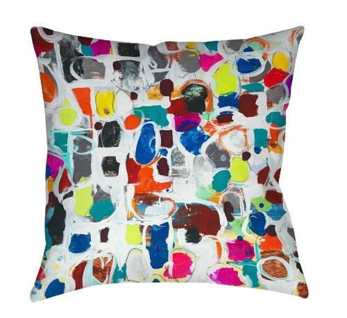 Thumbprintz Square Throw Pillow, 18-Inch, Celebration front-479051
