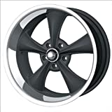 "Ridler Style 695 695 Matte Black Wheel with Machined Lip (18x8""/5x127mm)"
