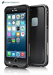 Sunwukin Best Waterproof Case for iPhone 6 Plus/6s Plus 5.5 Inch Underwater Shockproof Snowproof Dirtpoof Protection Cover [Black]