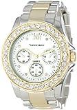 Vernier Women's VNR11146TT Boyfriend Mother-Of-Pearl Crystal Bracelet Watch