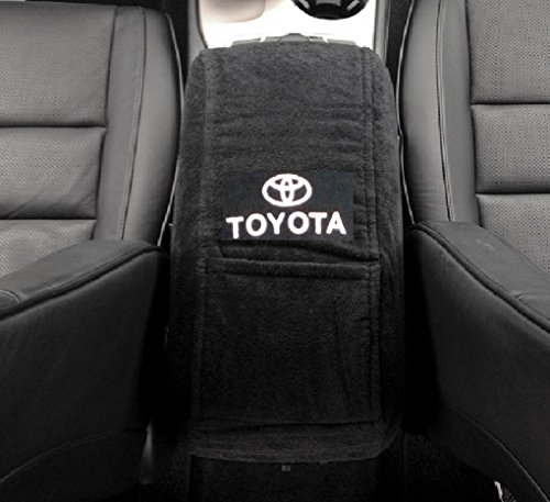 2007 - 2016 Toyota Camry This Black Plush Soft 100% Cotton Terry Velour Fabric Is Perfectly Designed for a True Fit on Your Camry Center Console with Toyota Embroidered Logo (Center Console Lid Camry compare prices)