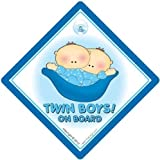 Twin Boys On Board - Se�al para coche (