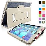Snugg iPad Air H�lle (Blau Denim) - Smart Cover mit Automatische Schlaf-Spur, Aufsteller, elastischer Handschlaufe, Stylus-Halterung und Premium Nubuck Innenfutter f�r Apple iPad Air
