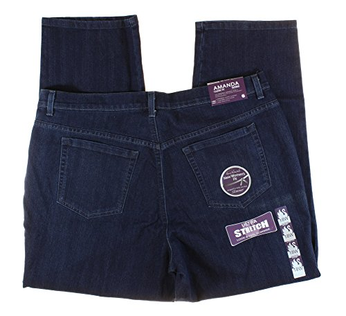 Gloria Vanderbilt Womens Plus Size Amanda Classic Fit Tapered Stretch Jeans