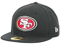 NFL Mens San Francisco 49ers On Field 5950 Black Cap By Era from New Era Cap Company