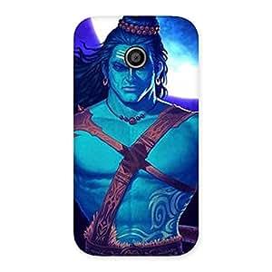 Special Warior Shiva Blue Back Case Cover for Moto E