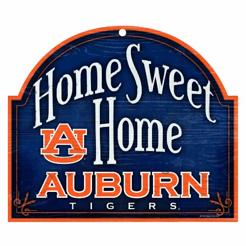NCAA Auburn Tigers 10-by-11 inch Wood Home Sweet Home Sign at Amazon.com