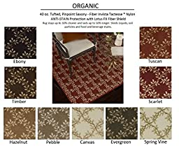 5\'x8\' SCARLET - ORGANIC - Custom Carpet Area Rug - 40 Oz. Tufted, Pinpoint Saxony - Nylon by Milliken (9 Colors to Choose From)