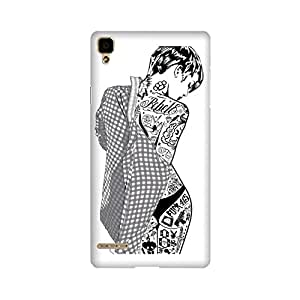 PrintRose Oppo F1 back cover - High Quality Designer Case and Covers for Oppo F1 Trendy girl