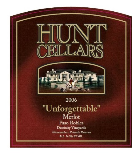2006 Hunt Cellars Winemaker'S Private Reserve 'Unforgettable' Merlot, Paso Robles 750 Ml
