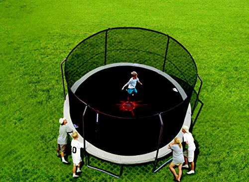 Safety FirstThe Bounce Pro 15' Trampoline with Slama Jama Basketball meets or exceeds ASTM safety standards and will give your kids years of safe fun. A patented SteelFlex enclosure system eliminates the