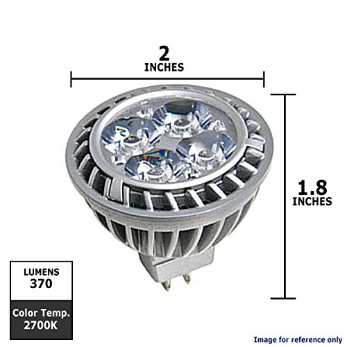 Ge Lighting 66131 Energy Smart Led 7-Watt (35-Watt Replacement) 370-Lumen Mr16 Spotlight Bulb With Gu5.3 Base, 1-Pack