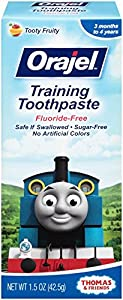Orajel Thomas and Friends Fluoride-Free Training Toothpaste, 1.5 Ounce