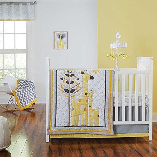 Safari Giraffe 4 Piece Baby Crib Bedding Set by Jonathan Adler