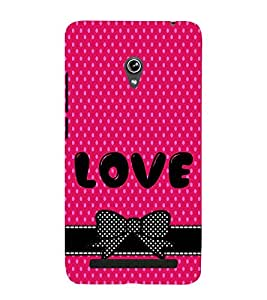 LOVE QUOTE IN A PINK BACKGROUND 3D Hard Polycarbonate Designer Back Case Cover for Asus Zenfone 5 A501CG :: Asus Zenfone 5 A500CG