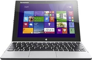 Lenovo Miix 2-10 25,7 cm (10,1 Zoll FHD-IPS) Convertible Tablet-PC (Intel Atom Z3745, 1,86 GHz, 2GB RAM, 128GB eMMC, Intel HD Graphics, Touch, Win8.1) silber
