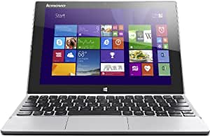 Lenovo Miix 2-10 25,7 cm (10,1 Zoll FHD-IPS) Convertible Tablet-PC (Intel Atom Z3745, 1,86 GHz, 2GB RAM, 128GB eMMC, Intel HD Graphics, Touch, Win8.1) silber