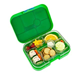 yumbox leakproof bento lunch box container new design pomme green for kids. Black Bedroom Furniture Sets. Home Design Ideas