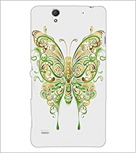 PrintDhaba Butterfly D-5360 Back Case Cover for SONY XPERIA C4 (Multi-Coloured)