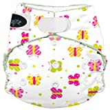 Imagine Baby Products Rayon From Bamboo All-In-One Hook and Loop Diaper, Flutter