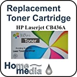 Home Media Toner to replace HP CB436A Black Toner Cartridge (2000 page yield) suitable for HP Laserjet Printer models: P1505 : P1505N : M1120 : M1120N : M1522N : M1522NF