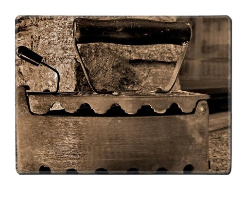 Old Retro Iron Antique Sepia Placemat Pads Customized Made To Order Support Ready 15 6/8 Inch (400Mm) X 11 13/16 Inch (300Mm) X 1/8 Inch (3Mm) High Quality Eco Friendly Cloth With Neoprene Rubber Msd Place Mouse Pad Desktop Mousepad Laptop Mousepads Comfo front-632210