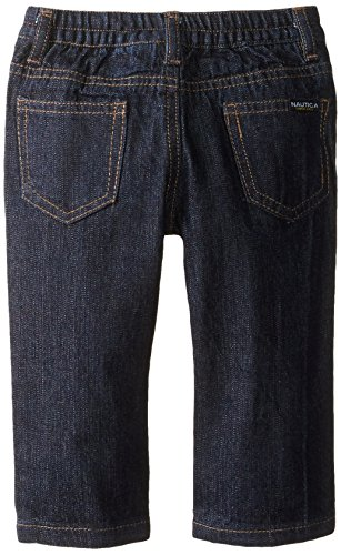 Nautica Baby Boys' 3 Piece Fleece L Nautica Tee Denim Pant Set, Tabasco, 12 Months