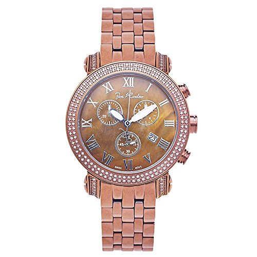 Joe Rodeo del diamante de los hombres de oro color de rosa - el reloj de estilo clásico de 1,75 ctw