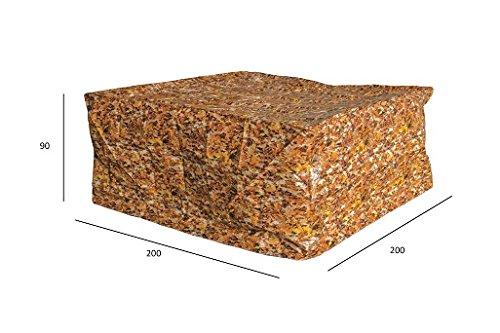 Luxus Schützhülle für Gartenmöbel-Set 180 cm , Schutzabdeckung mit einzigartigem Herbstblatt Druck, Schwerlast 220 gr/m2