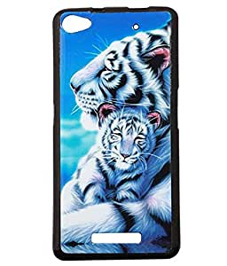 Jkobi Exclusive Rubberised Back Case Cover For Micromax Canvas Hue 2 A316 - Tiger's Love