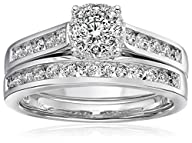 14k White Gold Unity Diamond Bridal Ring Set (1 cttw, H-I Color, I1-I2 Clarity), Size 7