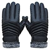 DEESEE(TM) Mittens Anti Slip Men Thermal Winter Sports Leather Touch Screen Gloves