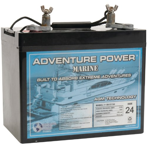 UPG 40601 Ub12750 Group 24 Marine Sealed Lead Acid Battery