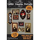 Amscan BB673032 Gothic Mansion Portraits Wall Decorations, 2-33.5 x 65