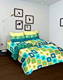 Tomatillo Geometric 4 Piece Cotton Double Bedding Set - Green