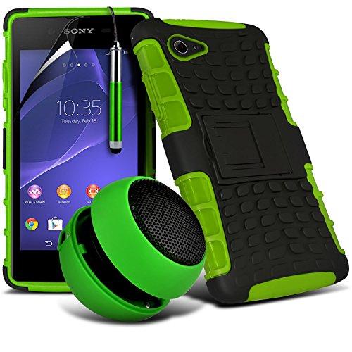 -green-sony-xperia-e3-case-4-in-1-high-quality-protective-bumper-gift-set-tough-survivor-hard-rugged