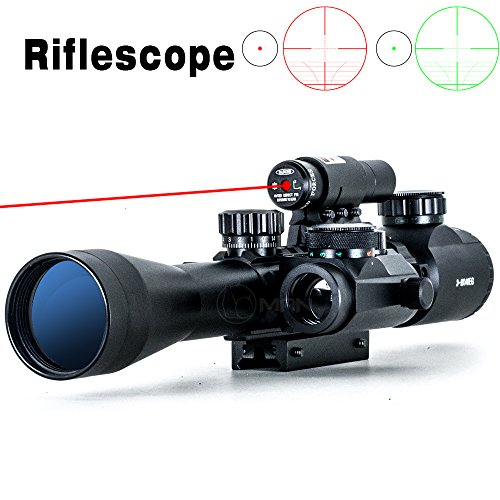Big Save! I0RMAN Original 3-9*40YG Riflescope Red / Green Illuminated Crosshair Gun Scope Lens Film ...