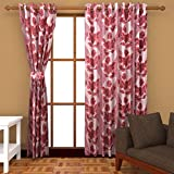 Ab home decor Polyester Window Curtains (Set of 2)- 5 Feet x 4 Feet,Maroon