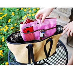 iGet (TM) Purse Organizer Insert Makeup Bag Cosmetic Travel Handbag