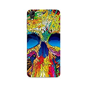 Ebby Abstract Skull Art Premium Printed Case For HTC Desire 728