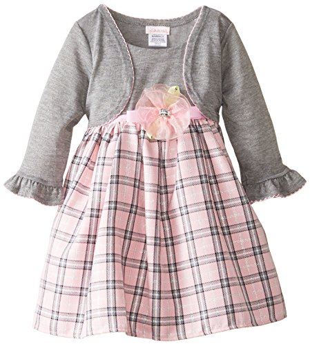 Youngland Little Girls' Plaid Dress With Shrug, Multi, 4T