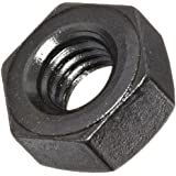 "Alloy Steel Hex Nut, Black Oxide Finish, Grade 5, Heavy, 3/8""-16 Threads, 23/64"" Height, Made in US (Pack of 5)"