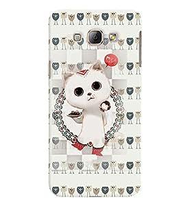 Fuson 3D Printed Cat Designer back case cover for Samsung Galaxy A8 - D4266