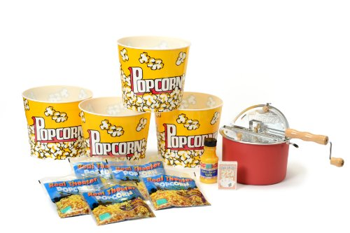 Popcorn & Playing Cards Set With Barn Red Whirley-Pop