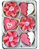 Beautiful Sweets Hearts and Flowers Organic Cookies, 24 Cookies