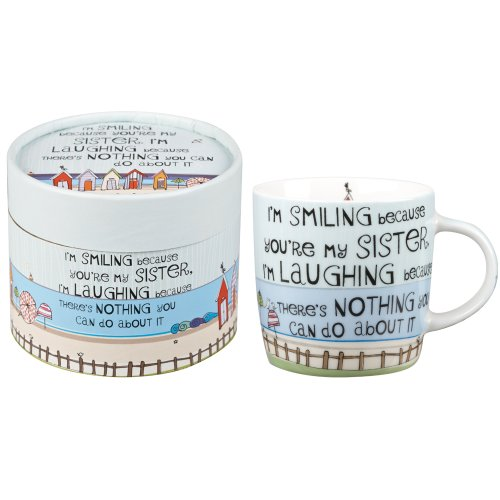 The Good Life Laughing Sister Mug in Gift Tin