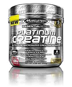 MuscleTech Platinum 100% Creatine, Ultra-Pure Micronized Creatine Powder, 80 Servings, 0.88 lbs (400g)