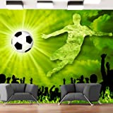 Non-woven !! Top !! Photo wallpaper ! Murals ! Wall Mural Photo !! 350x245 cm - Football 10110907-1 ! Free glue for each wallpaper !