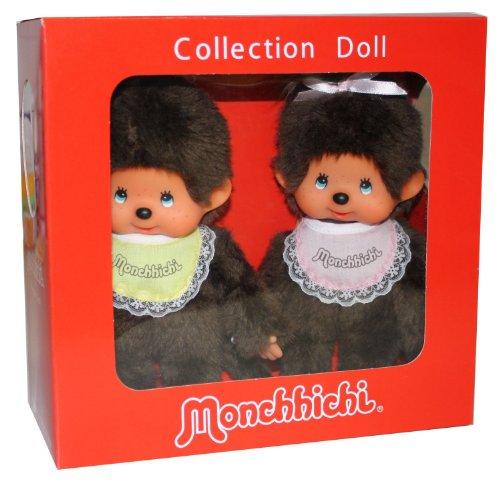 Imagen 1 de Monchhichi 251360 - Edición especial de 35 años, muñeco de chica y chico [importado de Alemania]
